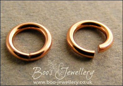Hand crafted solid copper jump rings for your jewellery making